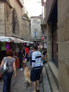 Villefranche de Rouergue's Thursday market. Voted the best in France!
