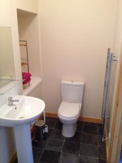 Lovely shower room with modern bathroom fittings  & large heated towel rail