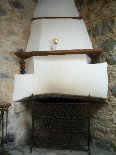 The fireplace at Eleni´s studio