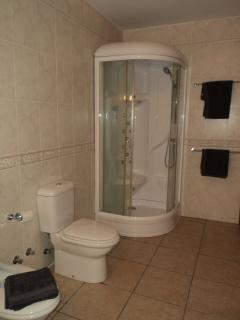 CABIN POWER SHOWER WITHIN THE EN SUITE BATHROOM