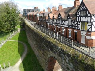 Luxury city centre house inside historic city wall, Chester