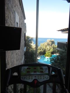 Mini-gym with treadmill and great view ensuite to Bedroom 2.