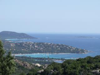 vue panoramique plages Santa guilia & Palombaggia
