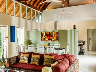 Spacious Living area with vaulted ceiling
