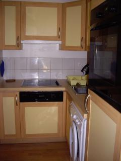 Fitted kitchen with Microwave, dishwasher, washing machine, fridge, hob, oven, kettle, toaster ...