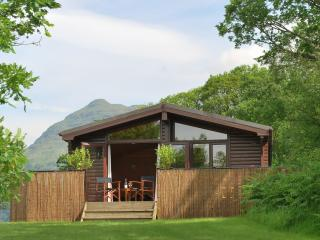 The lodge with Ben Lomond behind