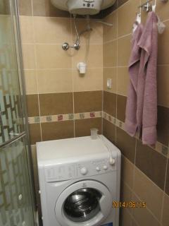 salle de bain ave lave linge