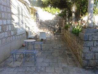 Klavir terrace and seating area