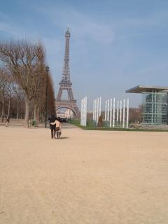 Spring day out - Eiffel Tower in the distance
