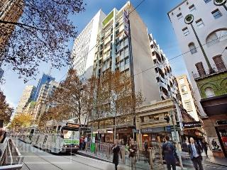 Located on Collins Street in Melbourne's CBD