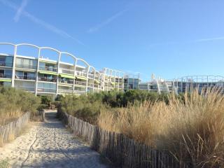 Studio en rez jardin front de Mer