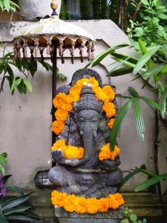 ganesh blesses the house at the entrance