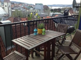 City view Bergen, spacious terrace