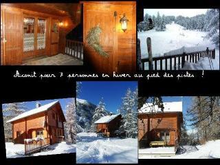 Chalet Aconit, 7/8 pers, grande terrasse SUD, pied pistes, Les Orres