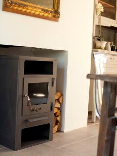 Wood burning stove for winter months
