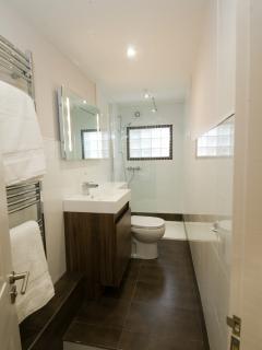 Sleek, modern shower room.