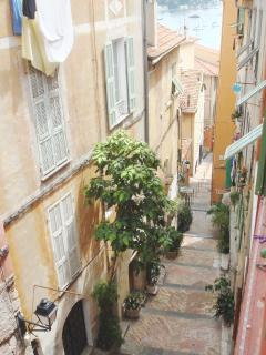 Picturesque pedestrian street of Rue de May