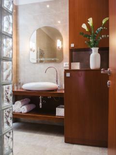 Bathroom. Integrated washing/drying machine.