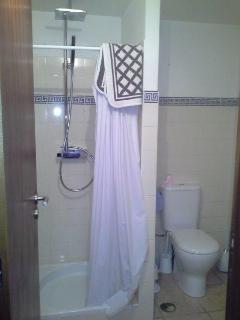 Ground floor bathroom with shower.