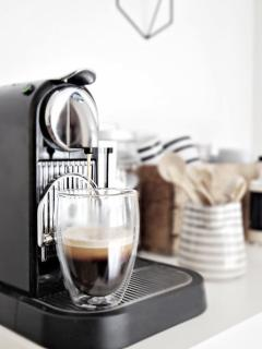 Enjoy a Nespresso coffee whilst taking in the sea view!