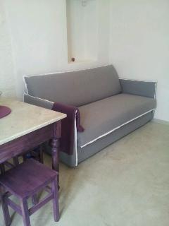 Living. Divano letto con materasso Memory 160X200