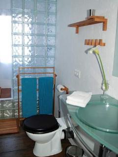 Bathroom with shower niche