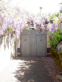 Accesso alla villa da vialetto privato