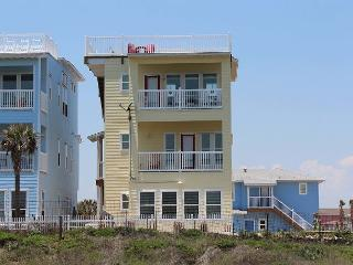 Newly Constructed 4 bedroom 3.5 bath with an ocean view in gated Village Walk, Port Aransas