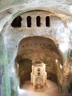 The monolithic church at Aubeterre-sur-Dronne