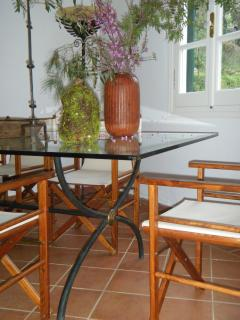 Main Cottage glass table