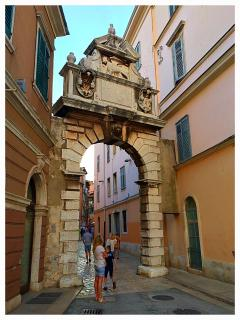 Original town gates 'Balbi Arch' built by the Venetians circa 1600.