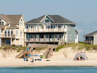 Porpoise Place 30 Oceanfront! | Elevator, Internet, Fireplace, Linens Provided, Jacuzzi, North Topsail Beach