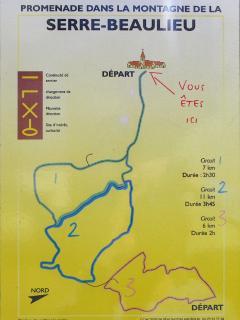 sentier de randonnée a Beaulieu