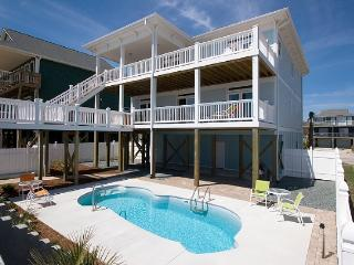 S. Shore Drive 1614 Oceanfront! | Private Pool, Hot Tub, Elevator, Jacuzzi, Internet, Fireplace, Surf City