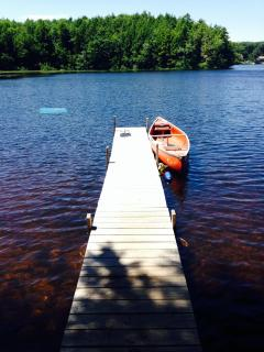 Dock With Canoe