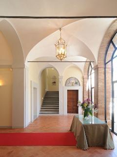 Reception area in Palazzo Morichelli