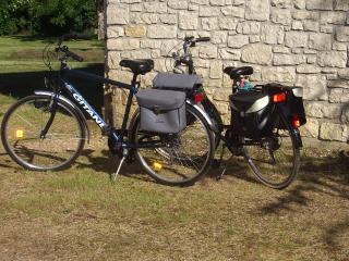 Les 2 vélos à disposition