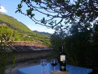 les volets bleus, in a charming provencal village