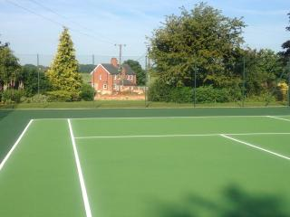 Tennis court for you to use when staying in the cottages only 70m away