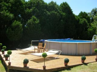 Brand new deck and pool - evening early July