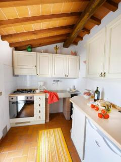 Mansarda apartment: the kitchenette