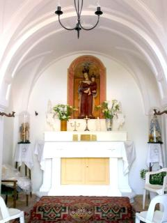 Interior of the private chapel