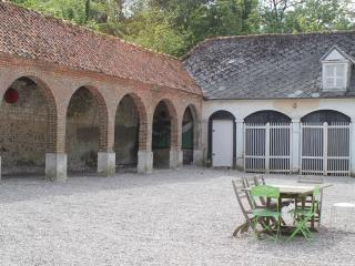 The yard with arcades