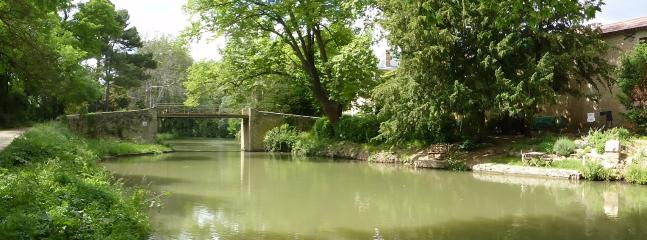 Our little bridge leads onto the canal path