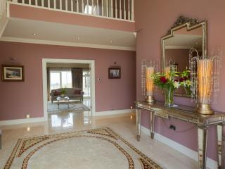 Entrance Hallway, Large bright and airy,with marble floor.,with hand made walnut