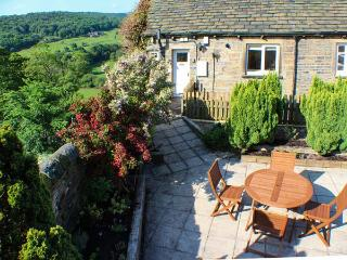 HOLMDALE COTTAGE, ground floor, patio with furniture, great base for walking