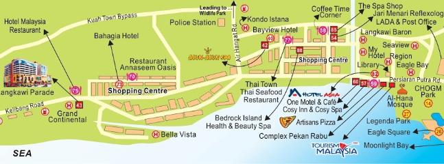 Kuah town Map
