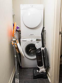 cloakroom with washing machine & seperate dryer
