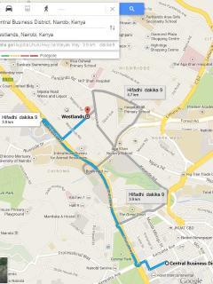 7b. Directions_Nairobi CBD to Westlands
