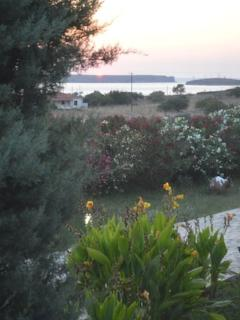 Dusk  / sunset from villa porch. Don't forget the wine!